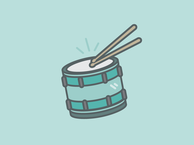 March to the Beat icon march illustration music beat drum
