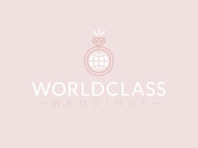 WorldClass Weddings Logo icon class world marriage wedding identity brand logo
