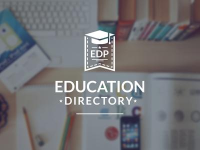 EDP Logo Design school vector online directory education icon branding logo design