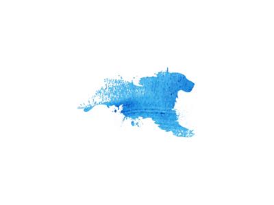 Wip logo blue paint animal shelter dog pet unused watercolor