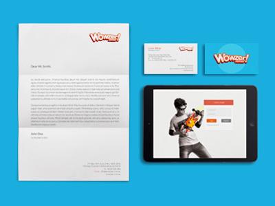 Wowzer logo wowzer identity business card
