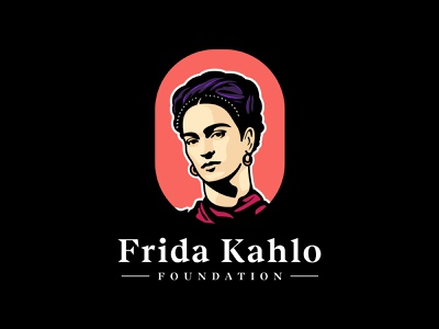 Frida Kahlo artist historical character writer fridakahlo portrait illustration portrait design branding colorful illustration logo