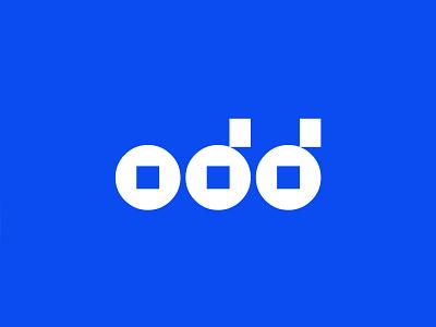 Odd Logo logotypes geometric wordmark logo shapes minimal odd app wordmark ux ui typography vector logodesign branding gradient logo