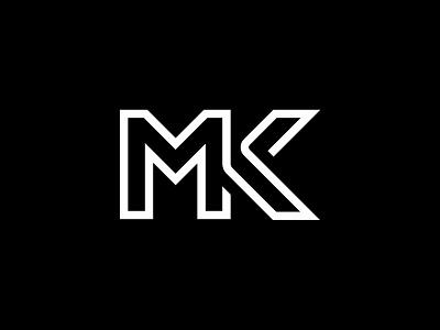 MK Logo fashion linelogo line wordmark logo minimal wordmark letter monogram logotype k m mk typography design vector app logodesign branding logo