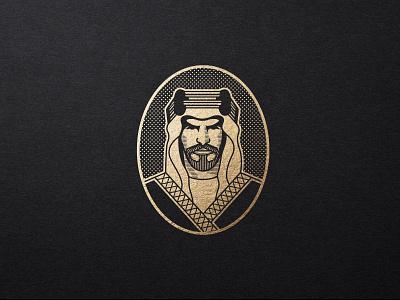 Sheikh Logo Concept face masculine man beard portrait saudi dubai royalty noble coffee sheikh vector logodesign branding illustration logo