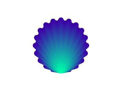Sea Shell seashells shell logo applogo symbol ocean layers seashell shell sea app ux icon transparency colorful logodesign branding illustration gradient 3d logo