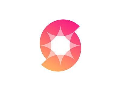 S + Spark Logo geometric icon symbol overlay star negativepspace sparkle spark s slogo s slogo web transparency colorful logodesign branding illustration gradient 3d logo