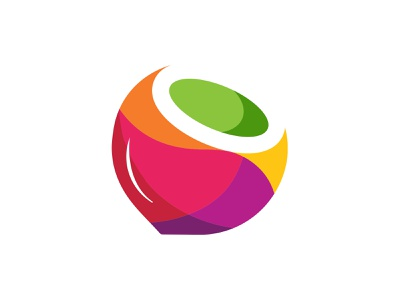 Cocoart Logo nature 3dlogo symbol layers coco coconut icon app transparency colorful logodesign branding illustration gradient 3d logo