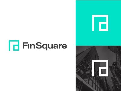 F+Square Logo business finsquare alphabet flogo line negativespace geometric f finance square minimal icon typography ui app colorful logodesign branding logo