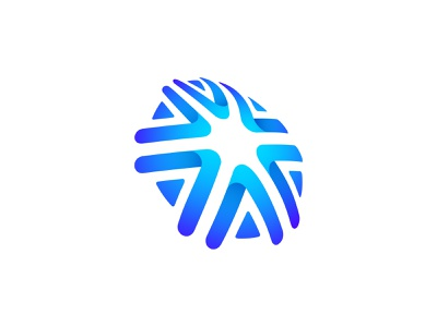 A+Asterisk vector ui colorful logodesign brandidentity almosh82 symbol branding logo gradient blue sphere insurance global 3d asterisk a star