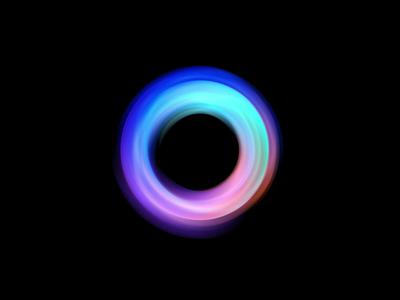 Microcosmic logodesigner circle motion sphere nft colorful logodesign branding gradient 3d logo