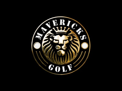 Royal Lion Golf Logo circular emblem lionhead logodesigner vector sports golfer golf royal lion logodesign branding gradient 3d logo