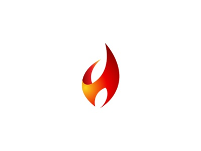 H+Flame logo gradient pharma leaf fire 3d flame h hot