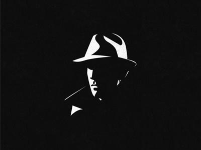 Face hooded hat illustrative illustration negativespace face logo