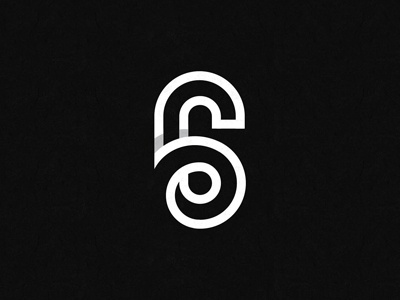 SIX logo shadow line numerical number