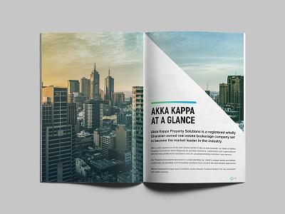 Brochure Design corporate logo identitydesign minimal property ghana realestate print brochure