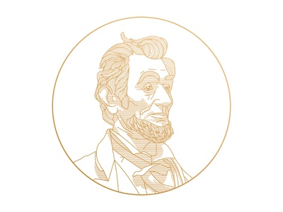 Abraham Lincoln face art line lincoln abraham lincoln portrait editorial
