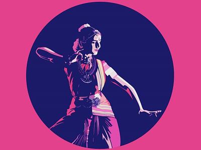 Indian Dancer- Illustration colorful illuatration dancer india