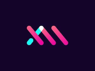 XM signage digital media transparency logo 3d logodesign logo m x xm