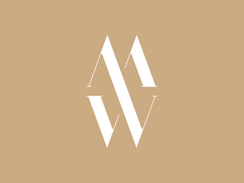 MW identity logotype minimal clothing label fashion monogram wordmark mw vector typography branding design 3d logo