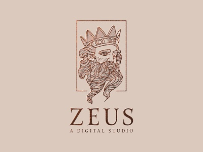 Zeus greek mythology greek zeus digital ui app design branding almosh82 portrait vector illustration 3d logo