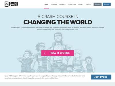 Equipe Evoke Website Design website design web design clean simple minimal equipe evoke evoke fun social game