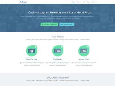 Followfy Website Design instagram followfy instagram followers web design website design clean minimal modern simple