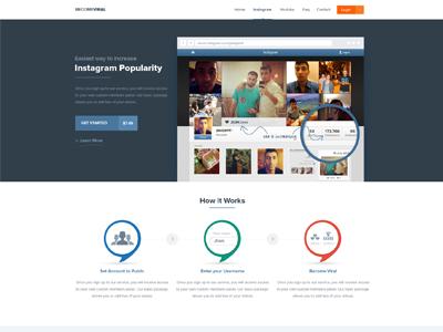 Instagram Landing page instagram landing page web design clean minimal simple design landing page design