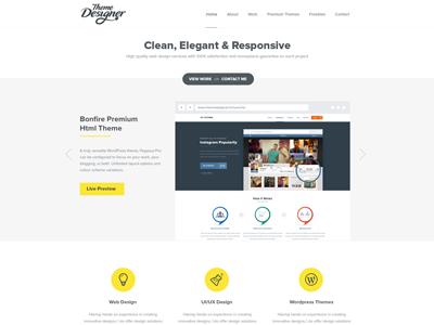 Theme Designer Preview theme designer theme design web design ui design ux uiux clean minimal simple modern