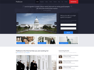 Political Press Wordpress Theme