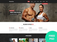 Fitnesstime Landing Page - FREE PSD