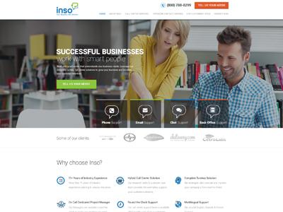 Website Re-design for Inso Internation website design re-design inso clean minimal modern business website re-design