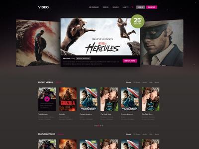 Video / Movies Website website design video site video streaming movies online movies modern clean