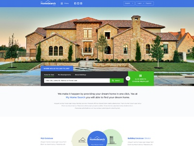 My Home Search Website Design real estate home search my home web design real estate website design property property design clean modern simple
