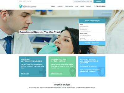 Tooth Corner Website modern clean website medical tooth tooth corner dental website dental