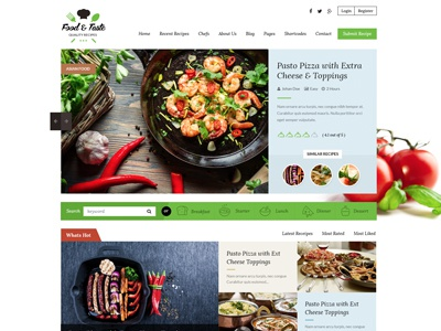 RecipePress - Food Recipe Wordpress Theme
