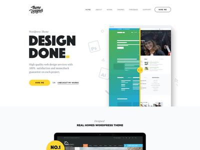 Theme Designer - Redesign modern clean theme designer re-design website re-design