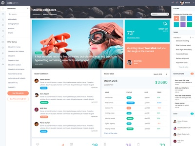 EliteAdmin - Modern Dashboard Version
