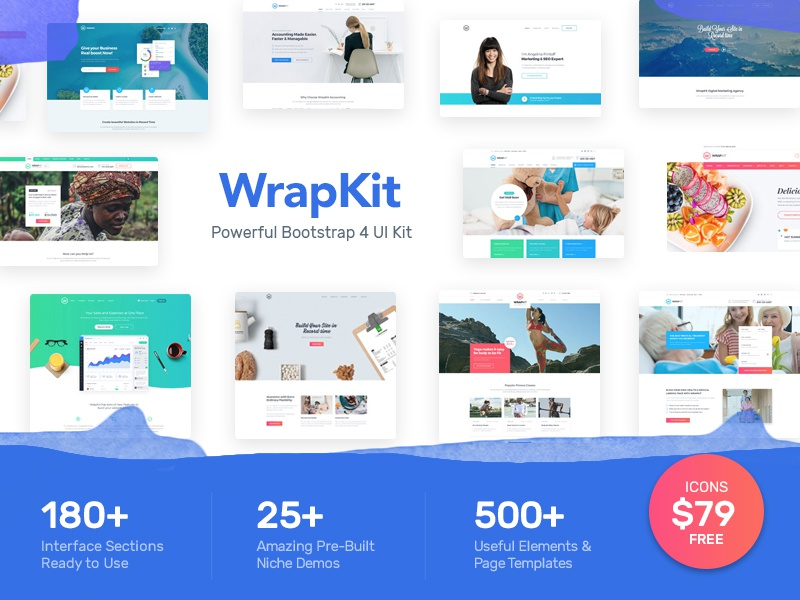 WrapKit - The Most Powerful Bootstrap 4 UI Kit ui kit psd psd ui kit free ui kit web kit kit ui kit bootstrap 4 ui kit bootstrap 4