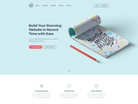 Web Agency Design from WrapKit app business corporate bootstrap landing page homepage bootstrap 4
