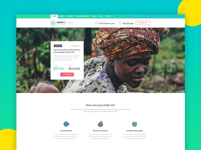 Charity Demo from WrapKit church non-profit organisation modern clean psd bootstrap non-profit donation ngo charity