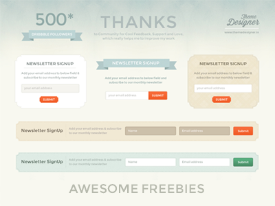 Newsletter signu freebies thumb