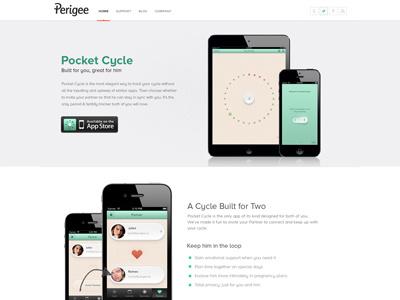 Perigee Website Design website design app website pocket cycle pocket cycle app web design clean minimal simple