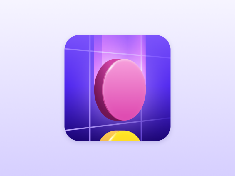 Disc Drop mobile game icon disc phone android ios puzzle game mobile