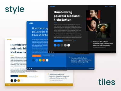 Web Design Style Tile components typography layout styleguide mockup style tiles webdesign