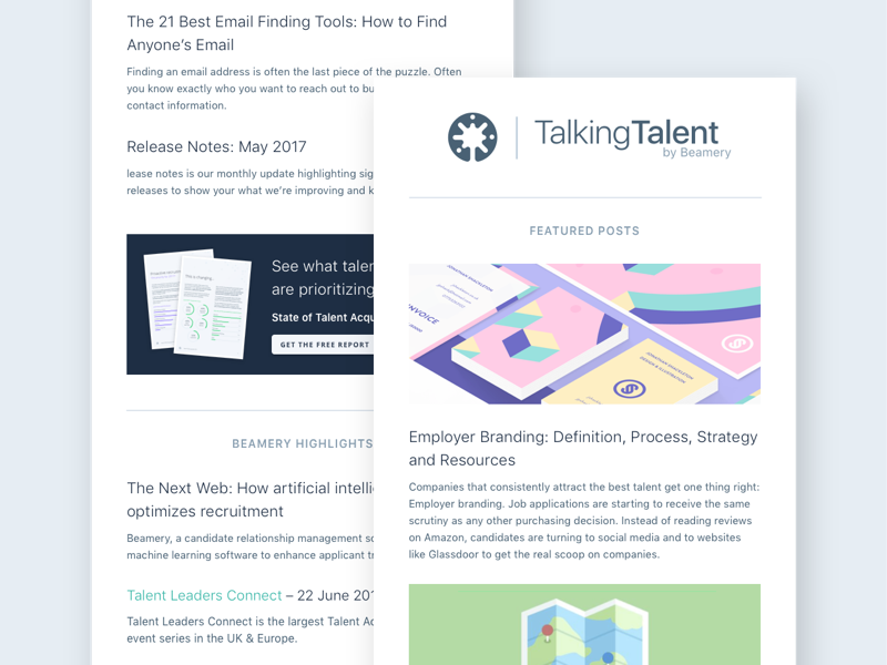 Beamery Marketing Email Template By Meaghan Li Dribbble Dribbble