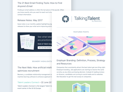 Beamery Marketing Email Template template announcements blog marketing newsletter news email