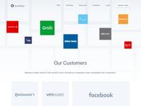 Beamery Customers website design