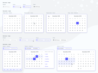 Date picker calendar component