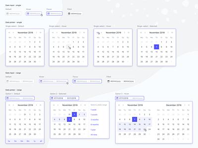 Date picker calendar component event day year month selection calendar ui component date picker date range calendar